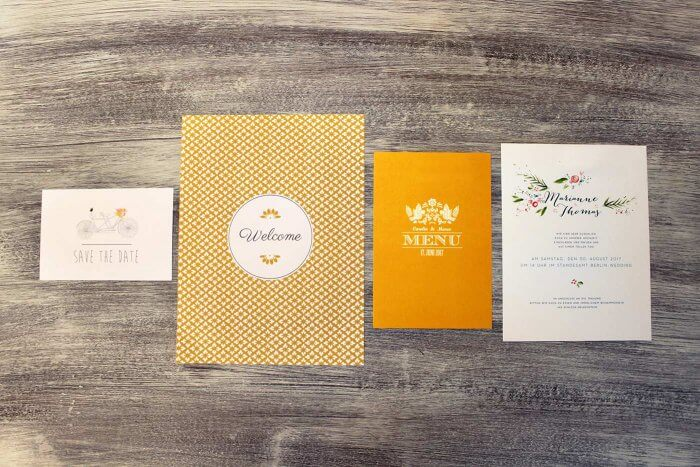 Hochzeitskarten drucken Designs