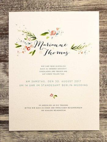Hochzeitskarten drucken lassen