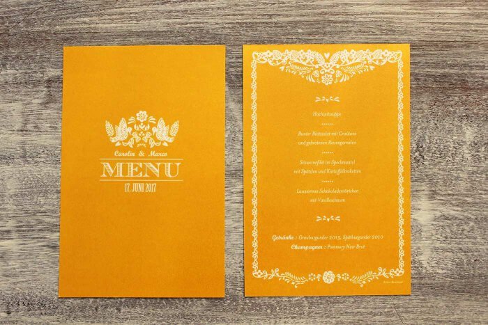 Hochzeitspapeterie Perlmuttpapier