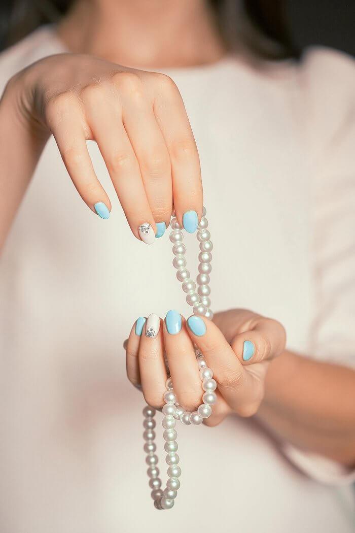 Fingernägel für die Hochzeit