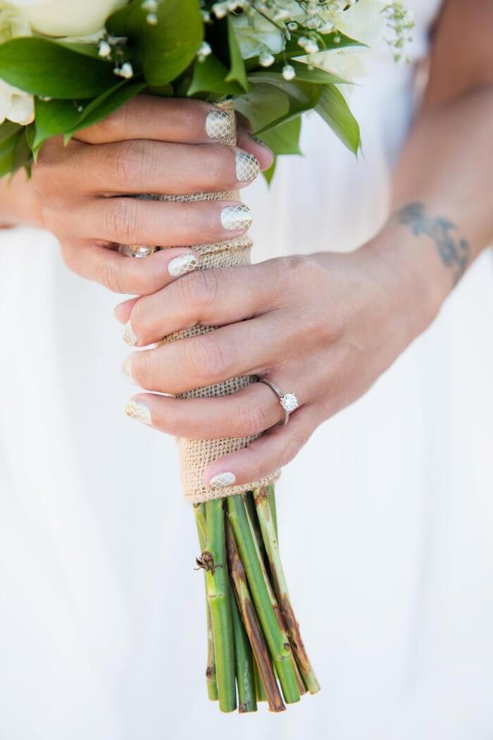 Nägel für die Hochzeit mit Stamping