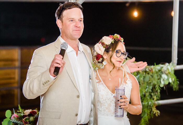 Rede Brautpaar an die Gäste