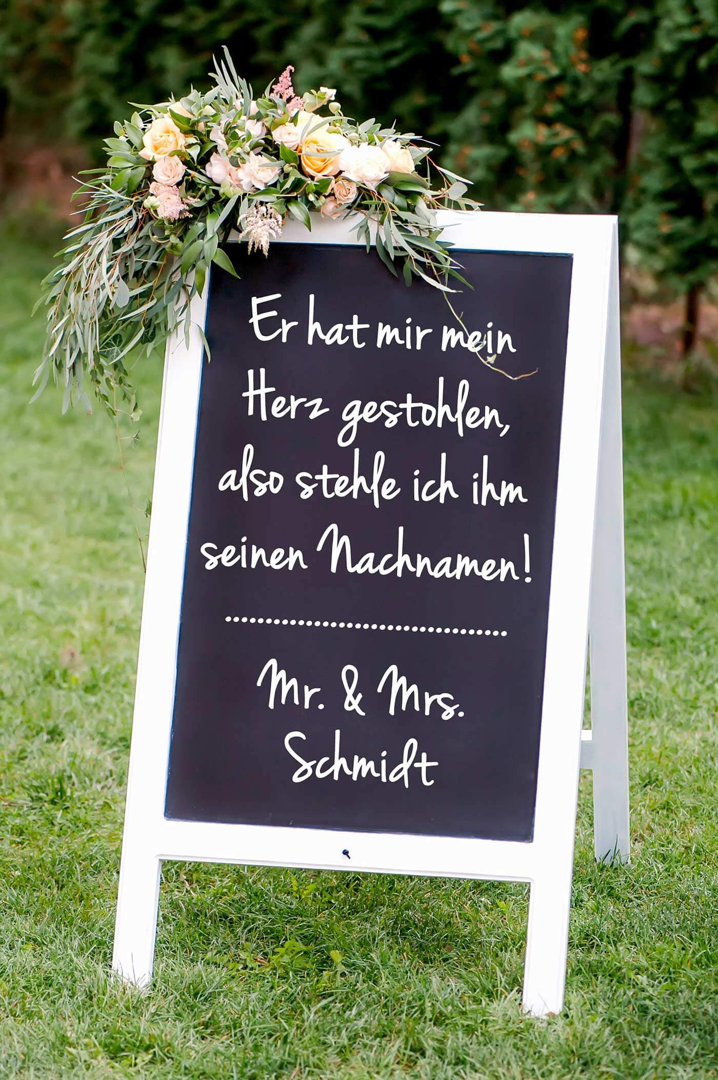 Hochzeit Schild