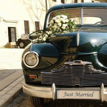 Nummernschild Hochzeit