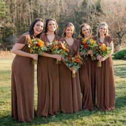 Brautjungfernkleider Braun