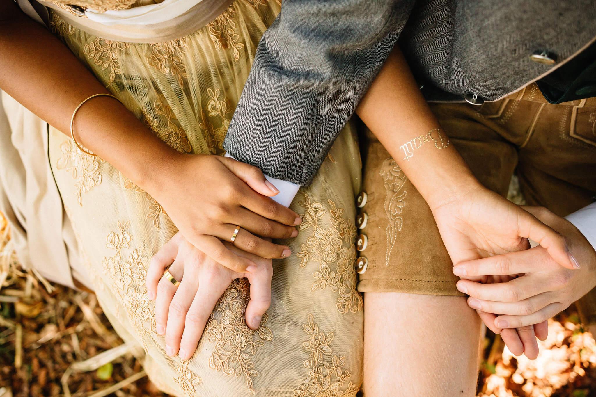 Klebetattoos Hochzeit