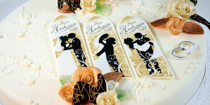 Hochzeitstorte selber machen mit Fondant