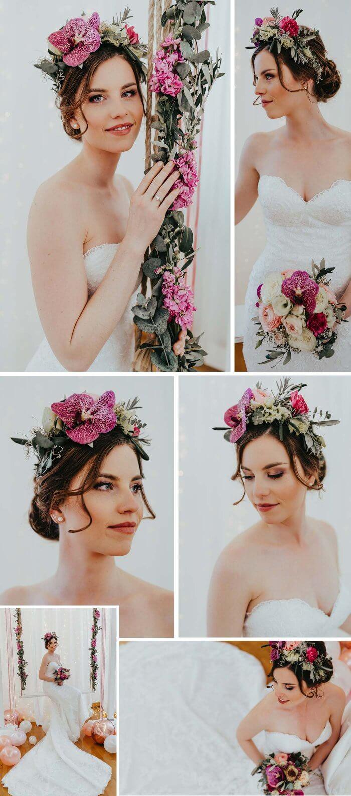 Brautfrisuren Trends Blumen