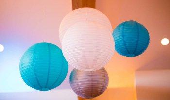 Papierlampions Hochzeit