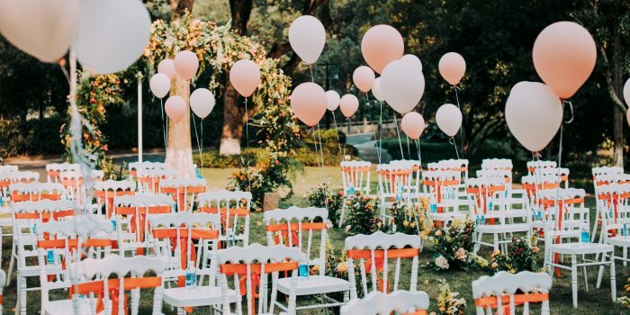 Luftballons zur Hochzeit