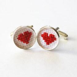 Manschettenknöpfe mit Herz