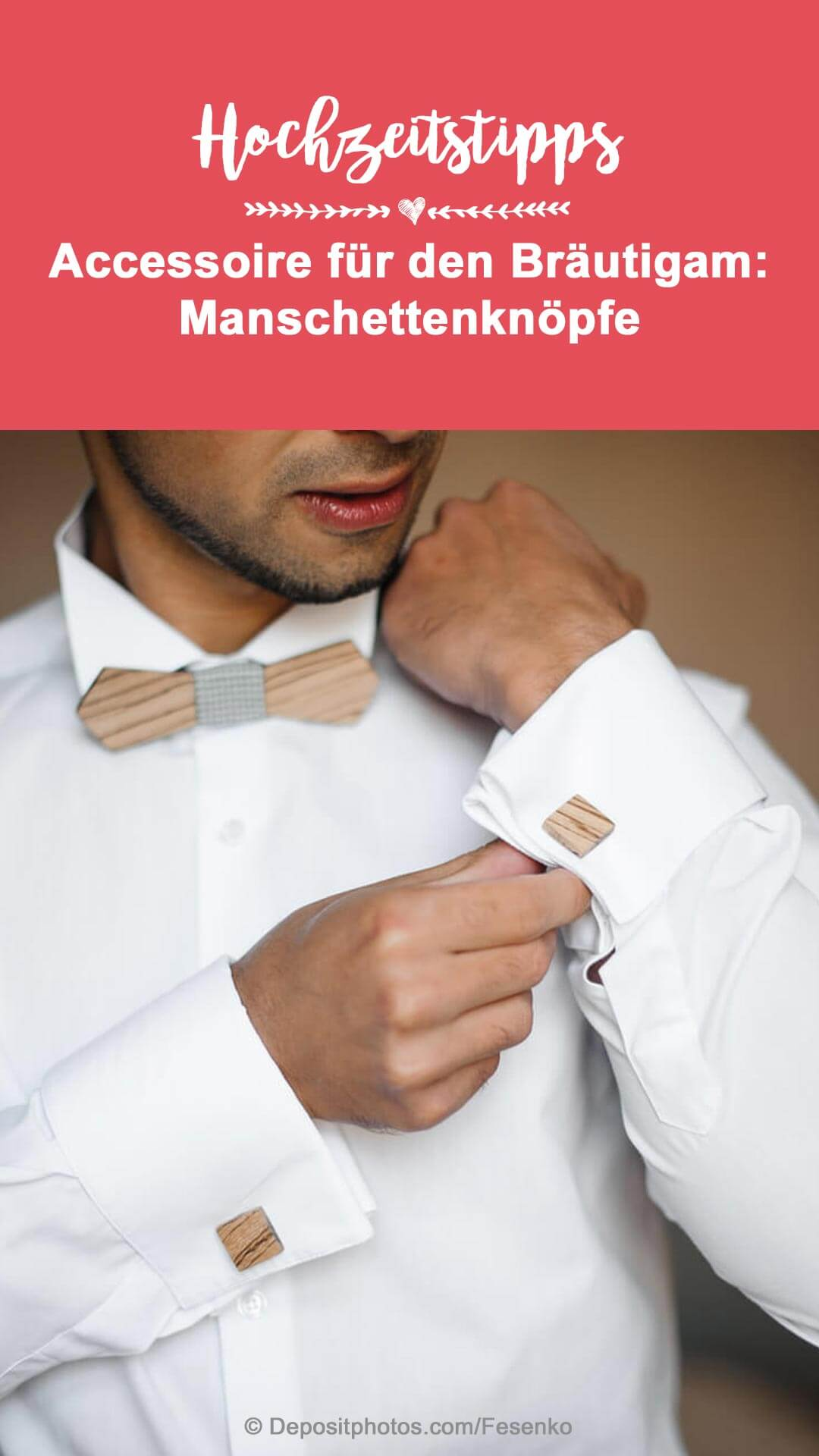 Manschettenknöpfe Hochzeit personalisiert