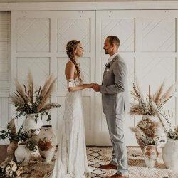 Pampasgras Hochzeitsdeko