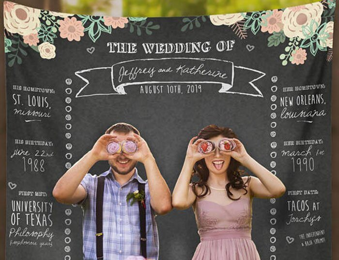 Personalisierter Photobooth Hintergrund
