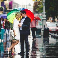 Regenschirm Brautpaar