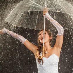 Regenschirm transparent Hochzeit