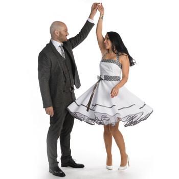 Brautkleid 50er-Jahre Rockabilly