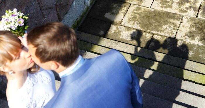 Hochzeitsfotografie und Schattenbilder