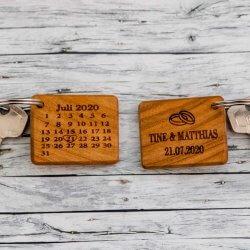 Schlüsselanhänger mit Datum