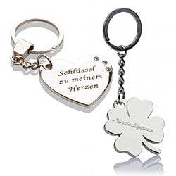 Schlüsselanhänger für Paare Kleeblatt