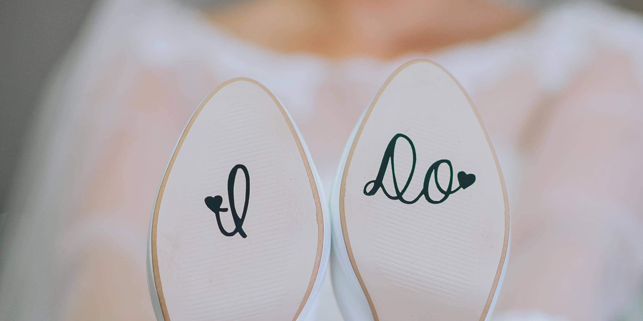 Aufkleber Schuhe Hochzeit