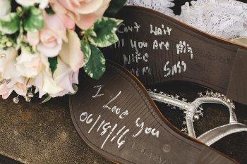 Schuhsohle Botschaft