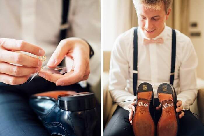 Schuhsticker Bräutigam Hochzeit
