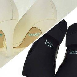 Schuhsticker Brautpaar