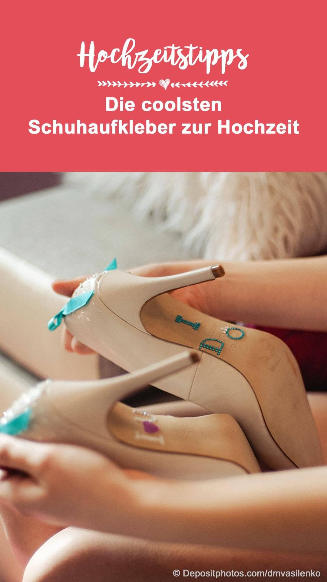 Hochzeit Schuhaufkleber