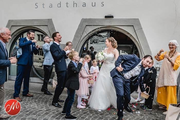 Hochzeitsfoto Seifenblasen