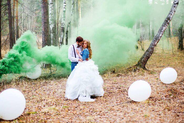 Rauchfackel Rauchtopf Bunte Rauchkörper Silvester Hochzeit Fotoshooting