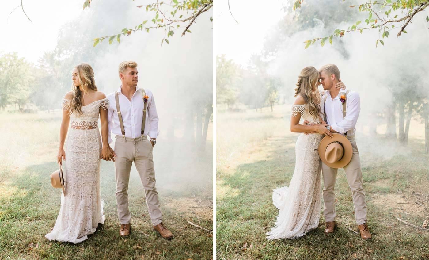 Rauchfackel Hochzeit