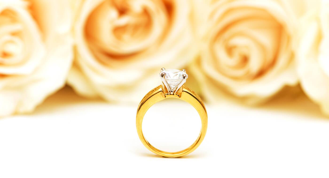 Verlobungsring Gold Diamant