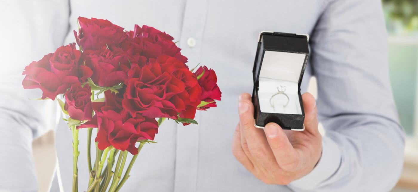 Verlobungsring Weißgold Diamant