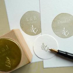 Hochzeitsstempel mit Initialen