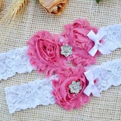 Strumpfband pink