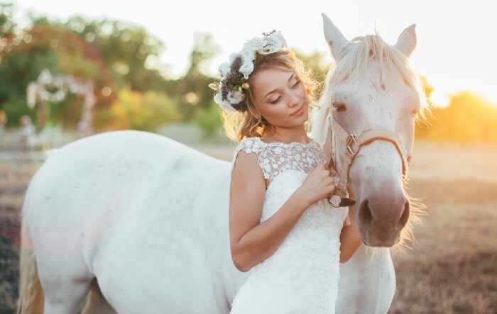 Hochzeit mit Pferd
