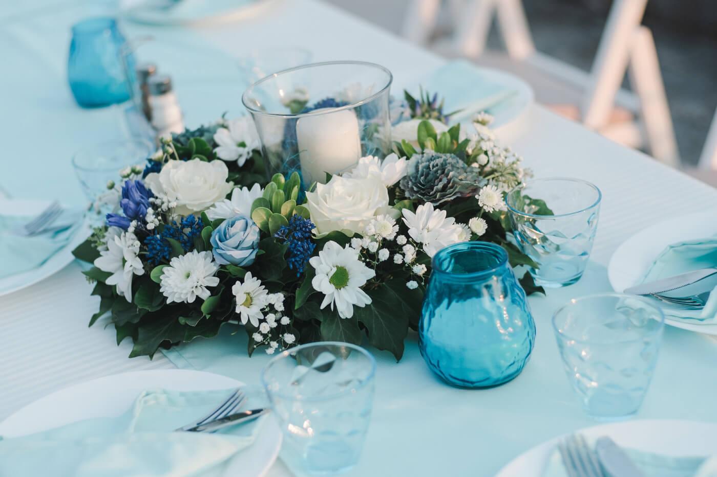 Tischdeko Türkis Hochzeit