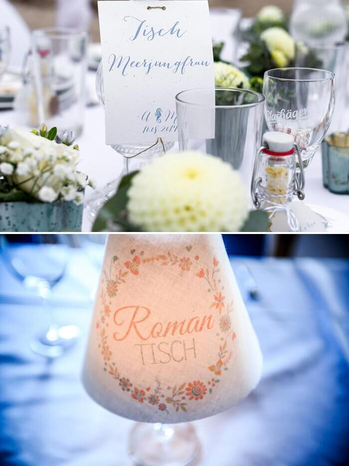 Hochzeit Tischnamen