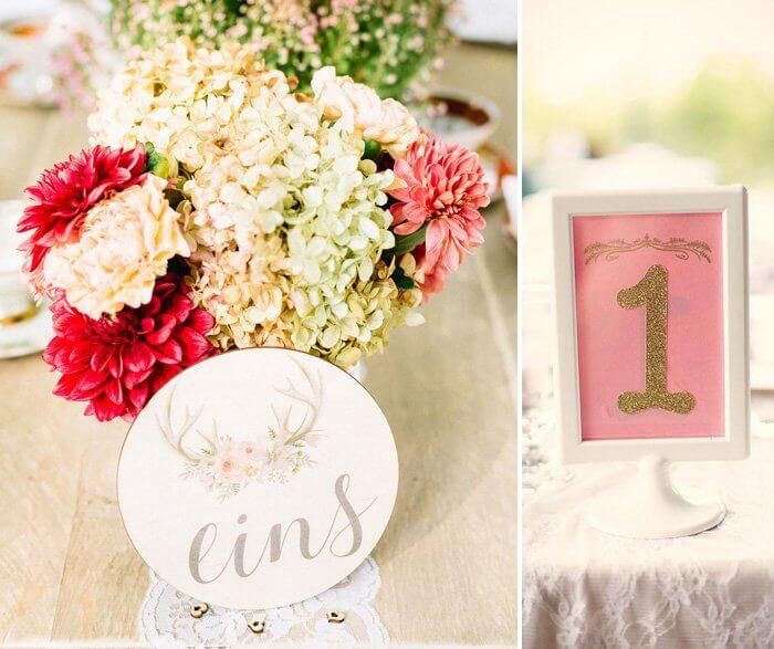 Hochzeitstisch Nummern
