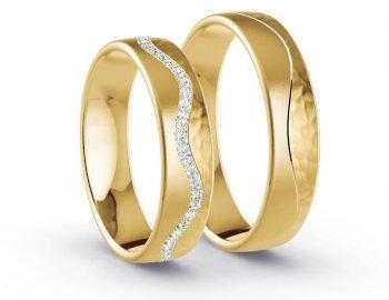 Trauringe gold Steine