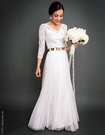 Brautkleid Corsage und Tüllrock