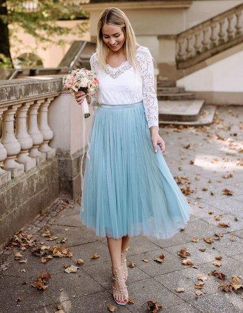 Tüllrock Brautkleid