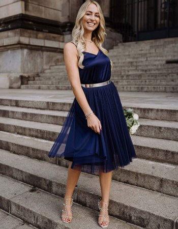 Tüllrock blau Hochzeit