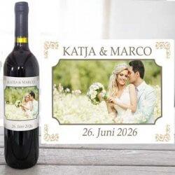 Weinetikett Hochzeit