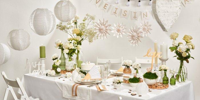 Hochzeitsdeko weiß