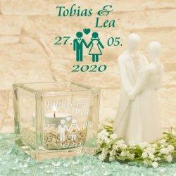 Windlicht Hochzeit Gravur