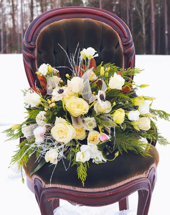 Brautstrauß Standesamt Winter