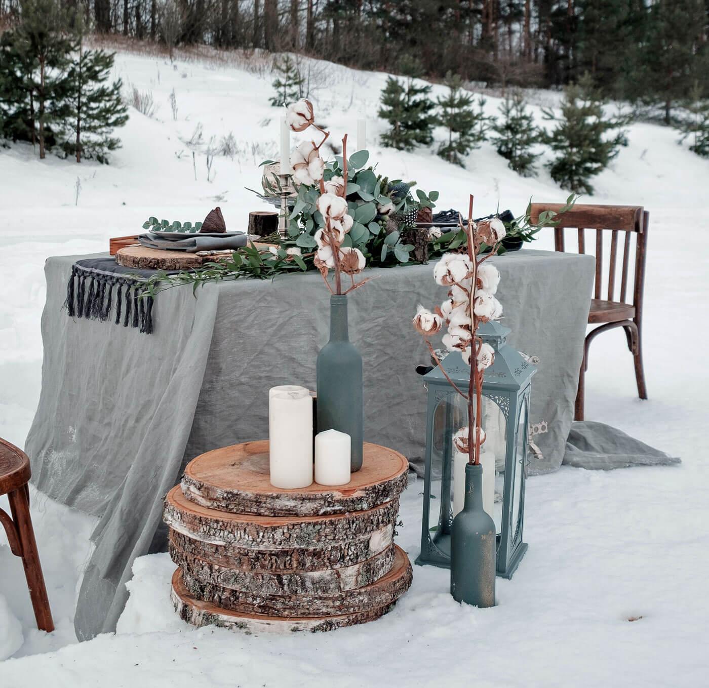 Hochzeitsdeko WinterhochzeitHochzeitsdeko Winterhochzeit