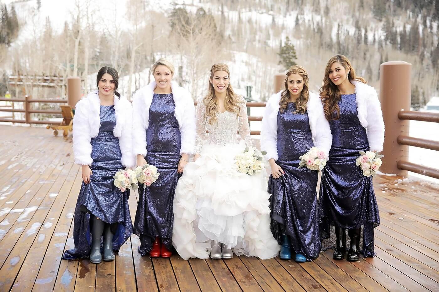 Winterhochzeit Schuhe